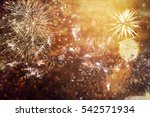 fireworks at new year and copy... | Shutterstock . vector #542571934
