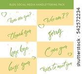 hand drawn lettering social... | Shutterstock .eps vector #542572234