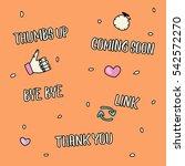 hand drawn lettering social... | Shutterstock .eps vector #542572270
