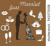 background  the couple are kept ... | Shutterstock .eps vector #542573338