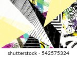 abstract geometric pattern... | Shutterstock .eps vector #542575324