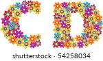 flower alphabet   Shutterstock .eps vector #54258034