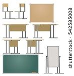 furniture for the classroom.... | Shutterstock .eps vector #542585008
