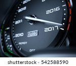 2017 year car speedometer... | Shutterstock . vector #542588590