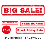 big sale  rubber seal stamp... | Shutterstock .eps vector #542594830
