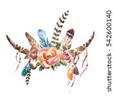 watercolor vintage floral...   Shutterstock . vector #542600140