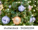 blurry glitter balls and... | Shutterstock . vector #542602204
