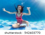 Funny Portrait Of Girl Swimming ...