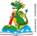 cartoon dragoon drawing a  | Shutterstock . vector #542610280