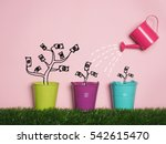 top view investment is like...   Shutterstock . vector #542615470