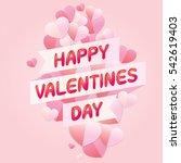 vector of happy valentines day...   Shutterstock .eps vector #542619403