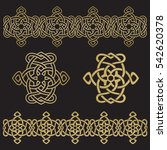 the eternal knot  two versions... | Shutterstock .eps vector #542620378