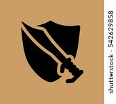 shield with sword icon. flat...