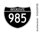 interstate highway 985 road... | Shutterstock .eps vector #542630938