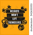 poster for a fitness center in... | Shutterstock .eps vector #542633353