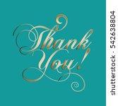 thank you  vintage lettering. | Shutterstock .eps vector #542638804