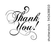 thank you  vintage isolated ... | Shutterstock .eps vector #542638810