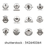 set grill and barbecue badges ... | Shutterstock .eps vector #542640364