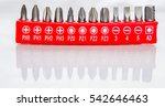 screwdriver bits on the white... | Shutterstock . vector #542646463