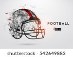 american football helmet in... | Shutterstock .eps vector #542649883