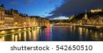 view of saone river in lyon... | Shutterstock . vector #542650510