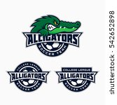 set of alligator mascot for a...   Shutterstock .eps vector #542652898
