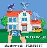smart house concept in flat... | Shutterstock .eps vector #542659954