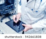 male doctor using digital... | Shutterstock . vector #542661838