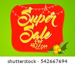 creative vector sales abstract... | Shutterstock .eps vector #542667694