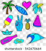 patches icon   vector... | Shutterstock .eps vector #542670664