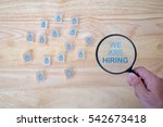 we are hiring message and human ... | Shutterstock . vector #542673418