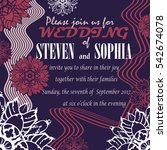 wedding invitation card with... | Shutterstock .eps vector #542674078