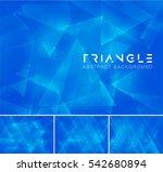 triangular abstract background. ... | Shutterstock .eps vector #542680894
