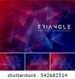 triangular abstract background. ... | Shutterstock .eps vector #542682514