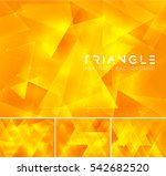 triangular abstract background. ... | Shutterstock .eps vector #542682520