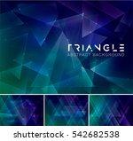 triangular abstract background. ... | Shutterstock .eps vector #542682538
