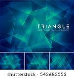 triangular abstract background. ... | Shutterstock .eps vector #542682553