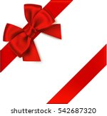 decorative red bow with...   Shutterstock .eps vector #542687320
