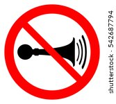 no horn  trumpet prohibition... | Shutterstock .eps vector #542687794