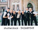 handsome groom with groomsmen   Shutterstock . vector #542689549