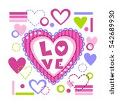pretty fashion girlish vector... | Shutterstock .eps vector #542689930