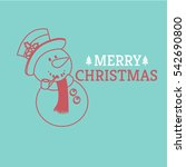 sketch merry christmas and... | Shutterstock .eps vector #542690800