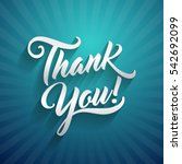 thank you beautiful lettering... | Shutterstock .eps vector #542692099