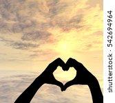 concept or conceptual heart... | Shutterstock . vector #542694964