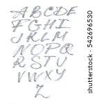 calligraphy font. latin.... | Shutterstock .eps vector #542696530