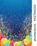 festive balloons background... | Shutterstock .eps vector #542704333