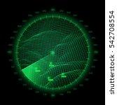 radar round screen  isolated on ...   Shutterstock .eps vector #542708554