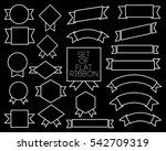 flat line stroke outline...   Shutterstock .eps vector #542709319