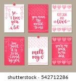 set valentine's day greeting... | Shutterstock .eps vector #542712286
