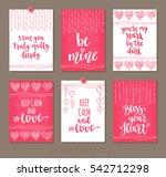 set valentine's day greeting... | Shutterstock .eps vector #542712298